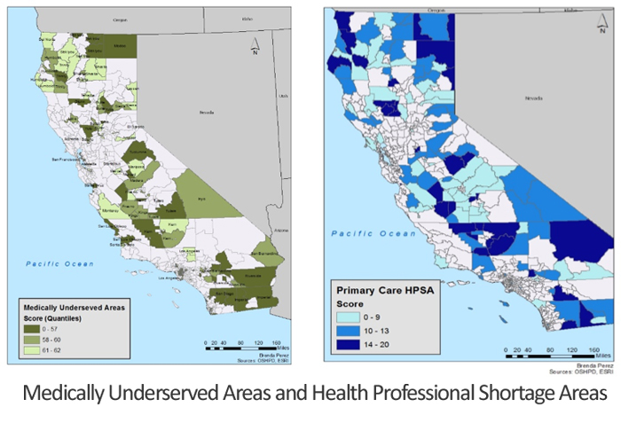 Medically Underserved Areas and Health Professional Shortage Areas